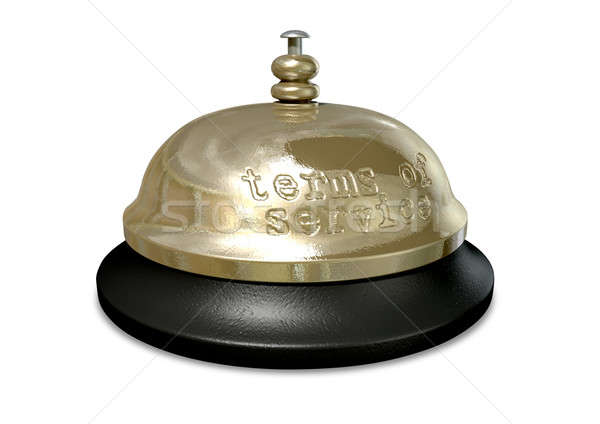 Terms Of Service Bell Stock photo © albund