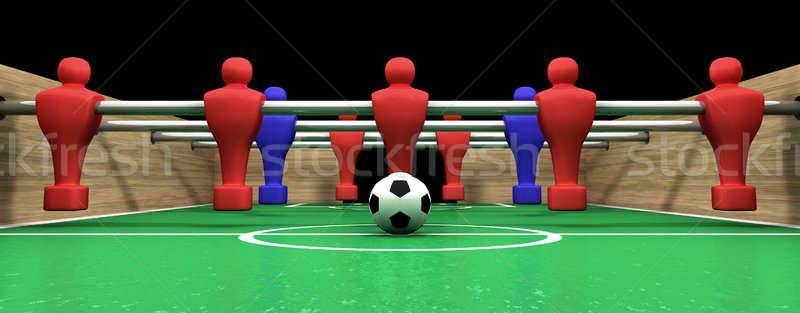 Foosball Table One Team Stock photo © albund