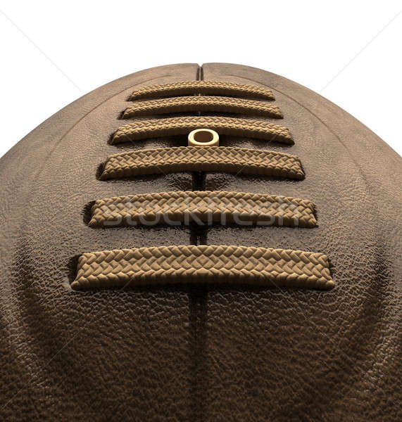 Old Classic Retro Rugby Ball Close Up Stock photo © albund