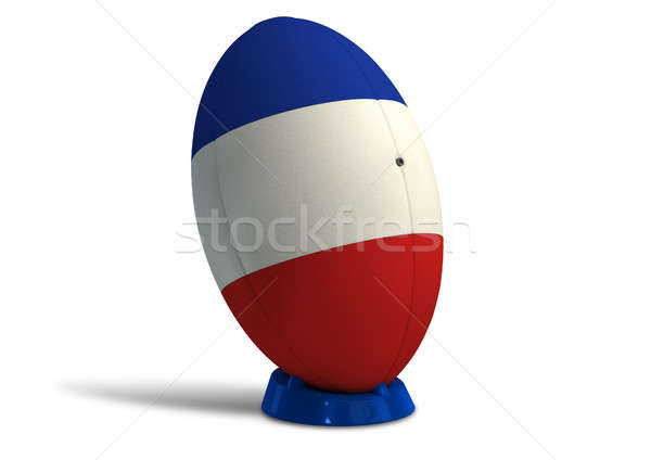 French Rugby Ball On A Kicking Tee Stock photo © albund