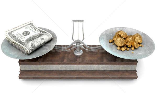 Balance Scale Comparison Stock photo © albund