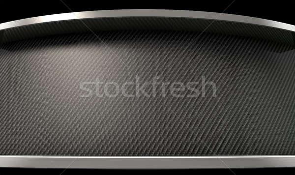 Curved Carbon Fibre And Chrome Stock photo © albund