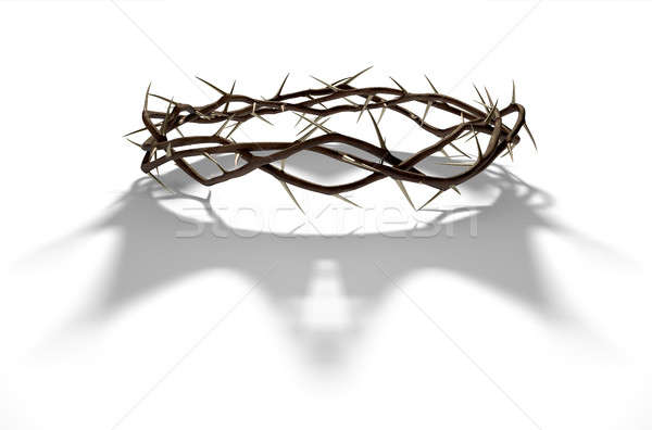 Crown Of Thorns With Royal Shadow Stock photo © albund