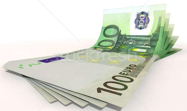Euro Bank Notes Spread Stock photo © albund