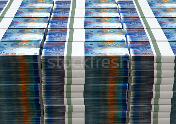 Swiss Franc Notes Bundles Stack Stock photo © albund