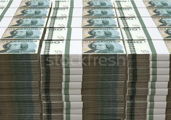 Swedish Krona Notes Pile Stock photo © albund