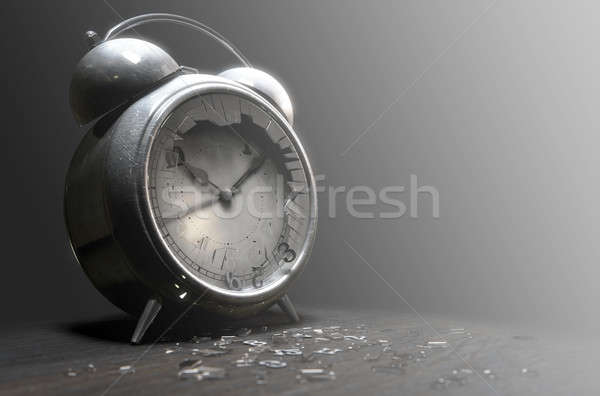 Table Clock Time Run Out Stock photo © albund