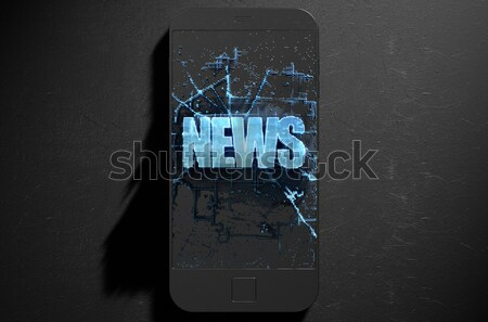 Fake News Cloner Smartphone Stock photo © albund