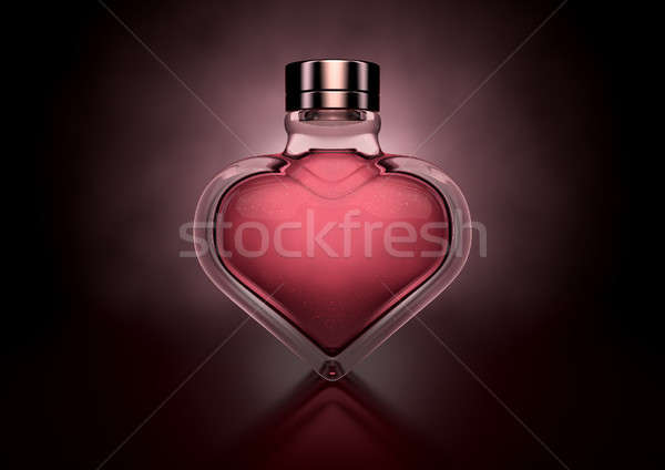 Coeur parfum amour verre Photo stock © albund