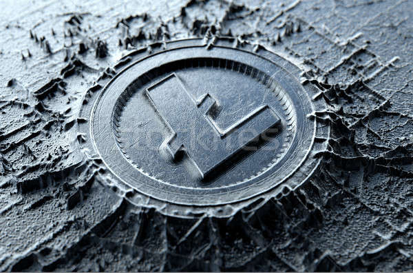 Stock photo: Cryptocurrency Casting Litecoin