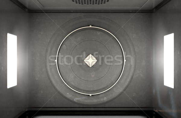 Microwave Top View Stock photo © albund