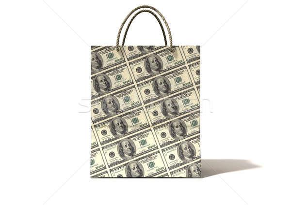 Shopping Bag Dollar Notes Front Stock photo © albund