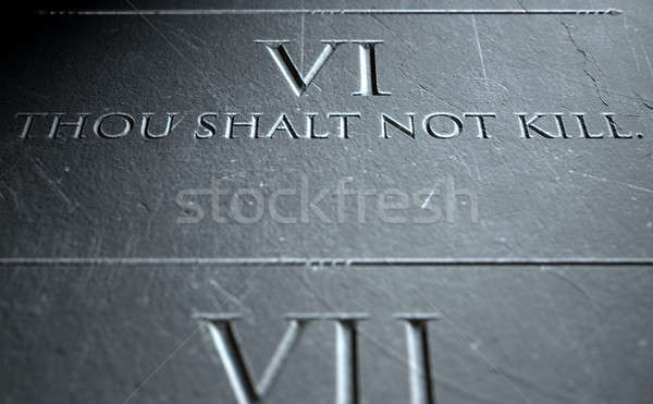 The Sixth Commandment Stock photo © albund