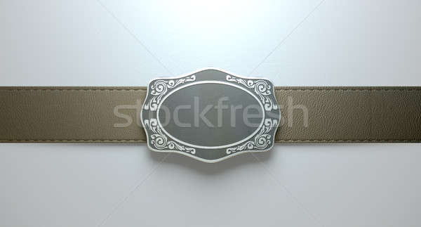 Belt Buckle And Leather Stock photo © albund