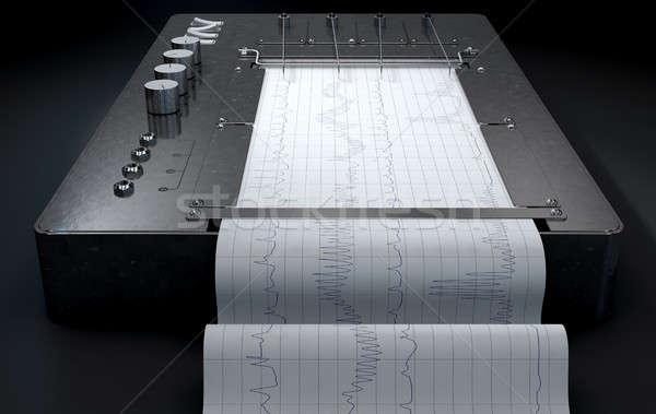 Hazugság detektor gép 3d render rajz piros Stock fotó © albund