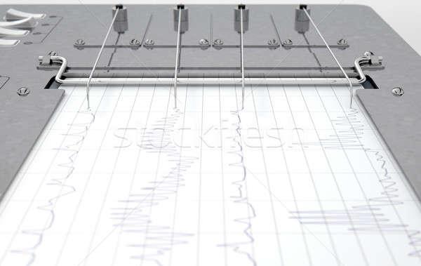Polygraph Lie Detector Machine Stock photo © albund