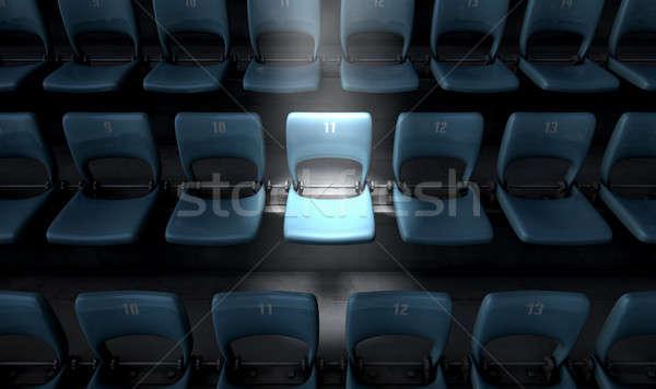 Highlighted Stadium Seat Stock photo © albund