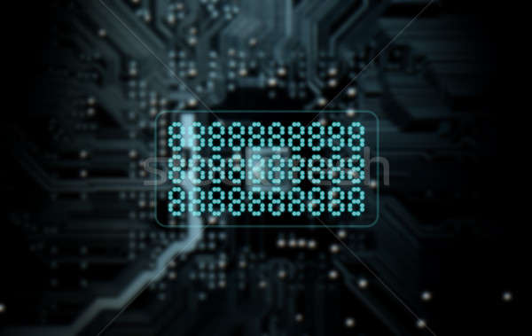 Circuit Board Projecting Text Stock photo © albund