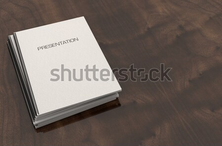 Annuel rapport livret fil documents Photo stock © albund