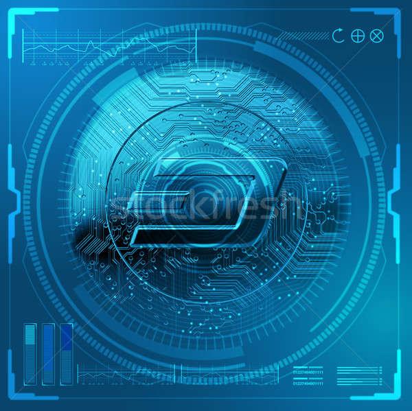 Cryptocurrency Dash Futuristic Stock photo © albund