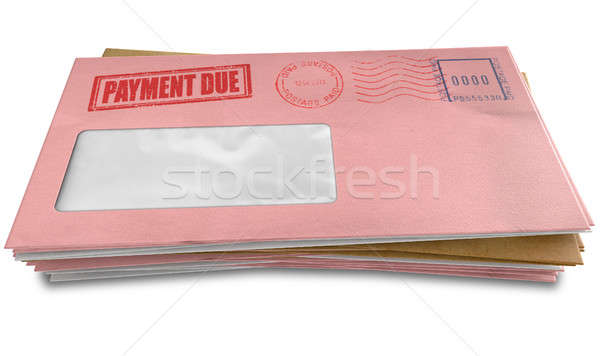 Debt Envelope Stack Stock photo © albund