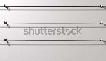 Steel Cable Display Wall Stock photo © albund