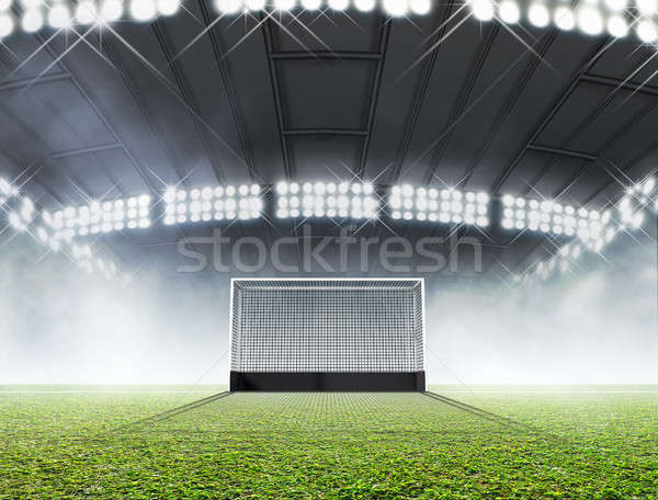 Foto stock: Esportes · estádio · hóquei · gramado · grama · verde