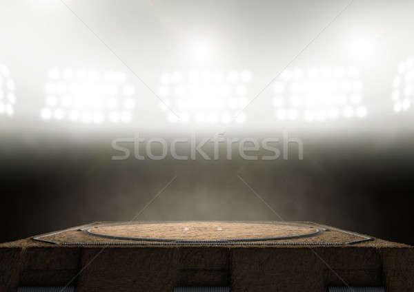Sumo Ring Empty Stock photo © albund