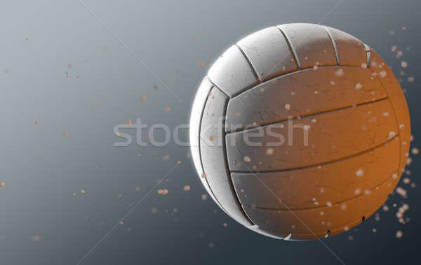 Volleyball In Flight Stock photo © albund
