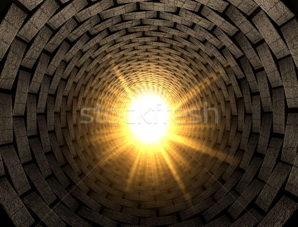 Photo stock: Lumière · brique · tunnel · perspectives · vue