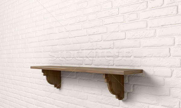 Shelf On A Wall Perspective Stock photo © albund