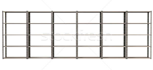 Warehouse Shelves Front Wide Stock photo © albund