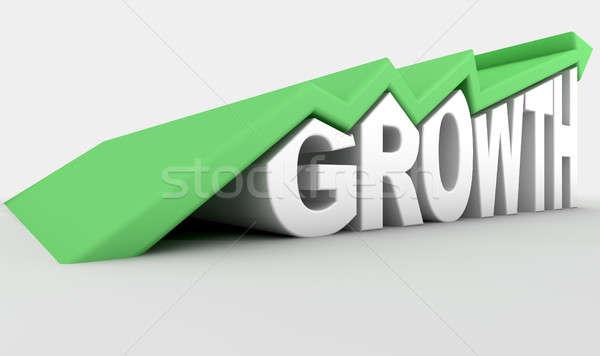 Growth Text And Arrow  Stock photo © albund