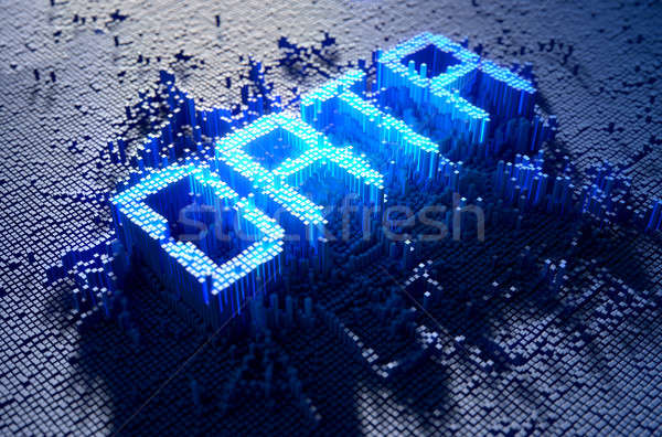 Pixel Data Concept Stock photo © albund