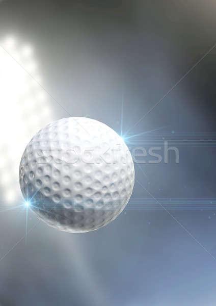 Foto stock: Bola · voador · ar · regular · golfball · ao · ar · livre