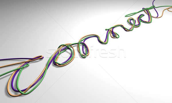 Connect Cables Stock photo © albund