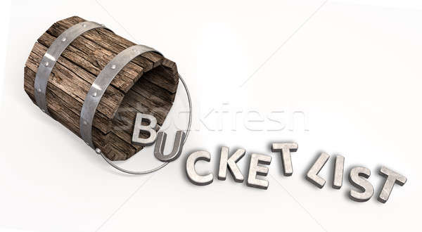 Bucket List Charm And Letters Stock photo © albund