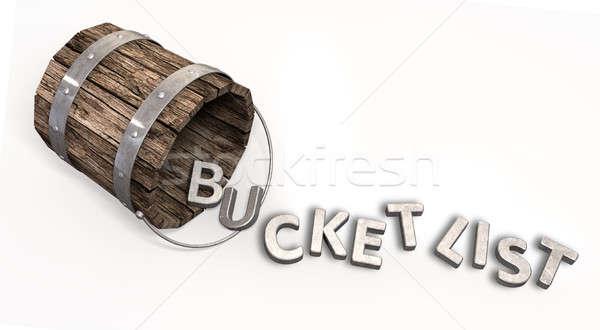 Wiadro listy urok litery vintage list Zdjęcia stock © albund