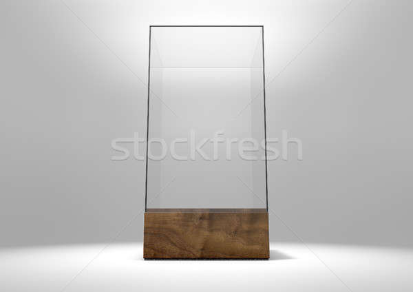 Glas display geval 3D lege Stockfoto © albund