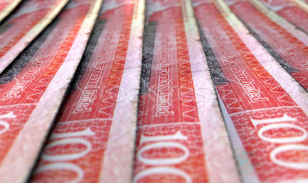 Lined Up Close-Up Banknotes Stock photo © albund