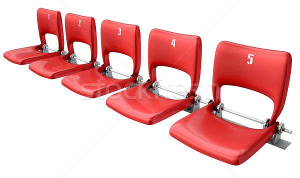 Stadium Seats Section Stock photo © albund