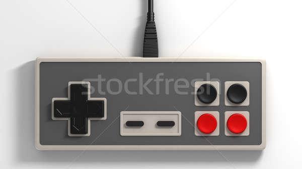 Vintage regelmatig rechthoekig Rood zwarte Stockfoto © albund