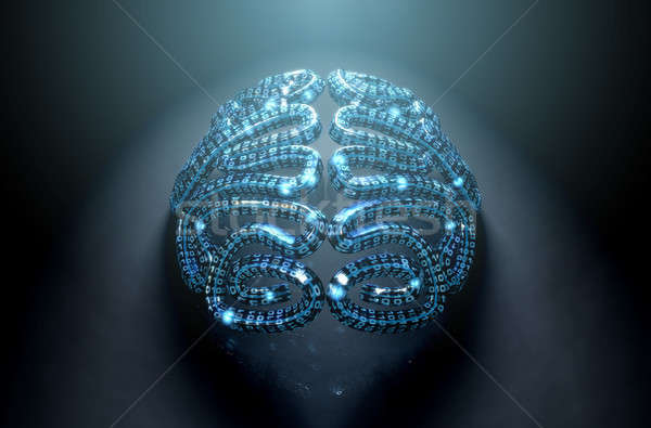 Stylized Artificial Intelligence Brain Stock photo © albund