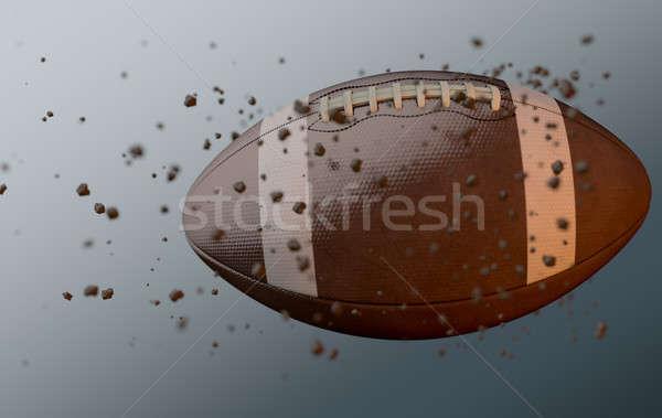 Football In Flight Stock photo © albund