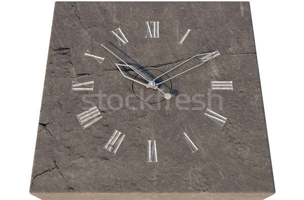 Clock On Stone Stock photo © albund