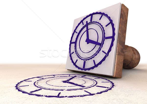 Timestamp Stamp Stock photo © albund