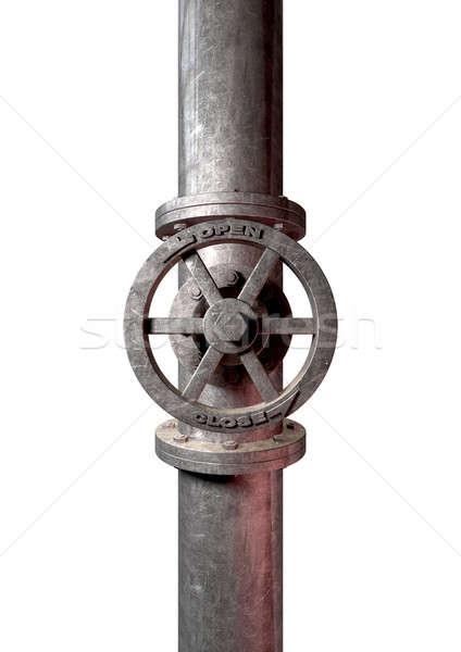 металл клапан прилагается трубы воды Сток-фото © albund