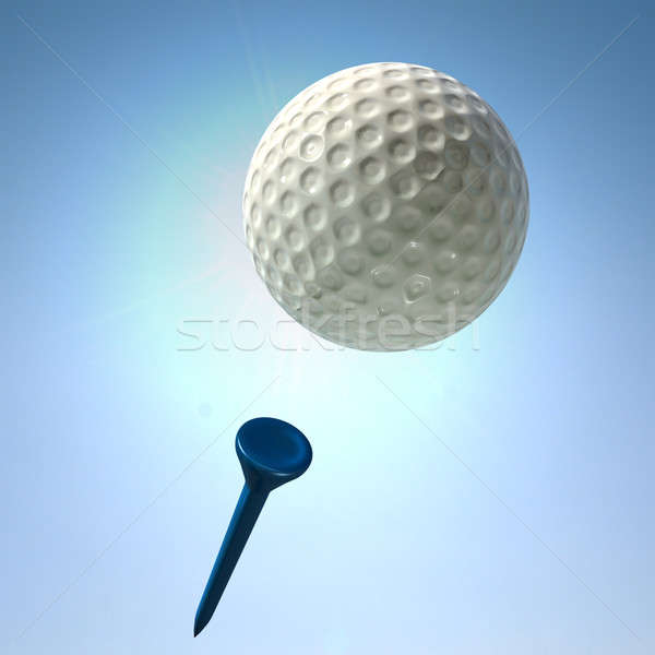 Golf shot actie regelmatig Stockfoto © albund