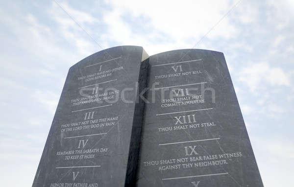 10 Commandments In Desert Stock photo © albund