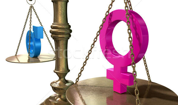 Gender Equality Balancing Scale Stock photo © albund